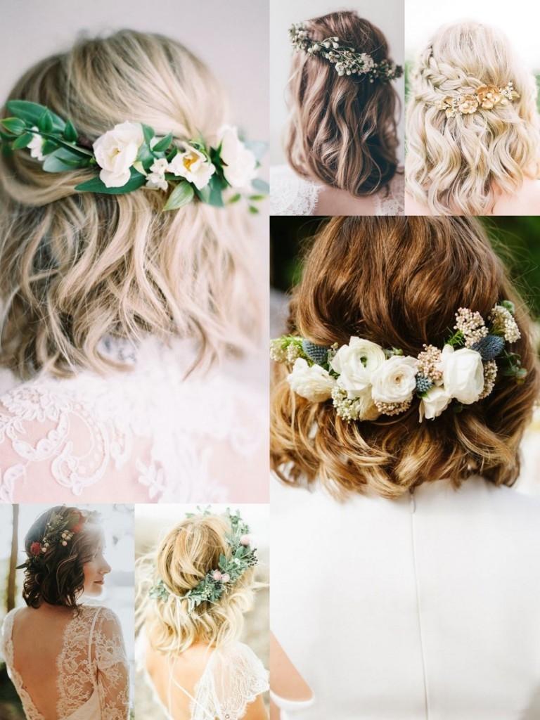 blomkransar för håret